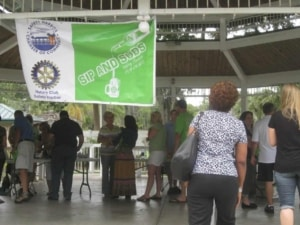 Registration at the Gazebo