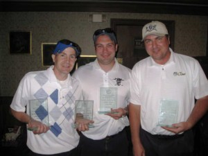 Shane Warner, Mark Perry, Jason Alpert and Dave Ferry of Perry Law, P.A. won Men's Low Net