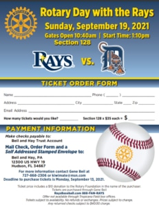 ORDER-FORM-2021 Rotary Days with the Rays